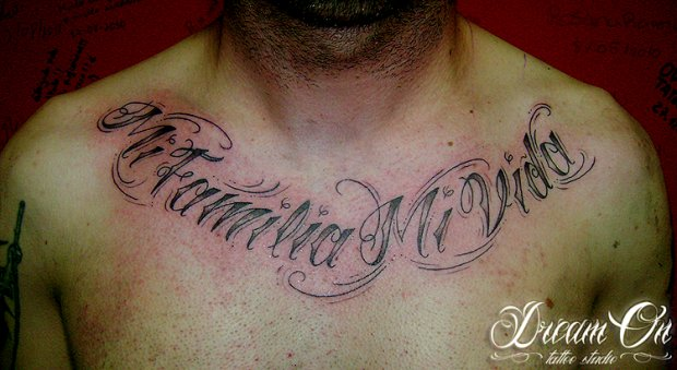 LETTERING - DREAM ON ® TATTOO STUDIO