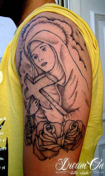 VIRGIN MARY - DREAM ON ® TATTOO STUDIO